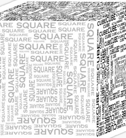 Square Cube Sticker