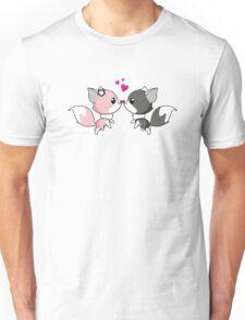 Fox in love - cute animal cartoon  Unisex T-Shirt