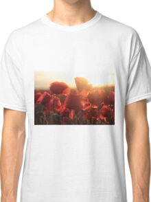 Poppies with setting sun Classic T-Shirt