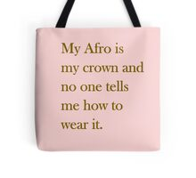 Afro Crown  Tote Bag