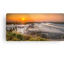Sunset at Morston Creek Metal Print