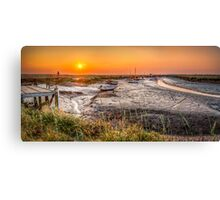Sunset at Morston Creek Canvas Print