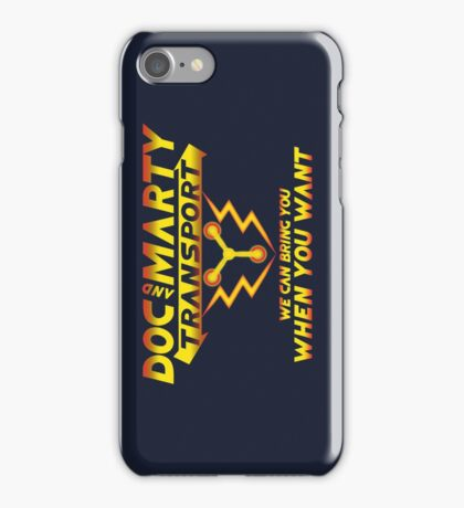 Doc & Marty Transport iPhone Case/Skin