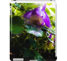 Columbine with dew drops iPad Case/Skin