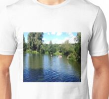 Canoeing on an english lake Unisex T-Shirt