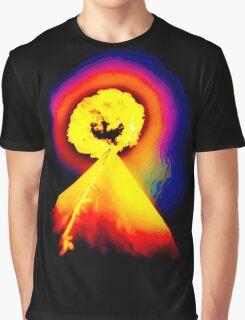 Phoenix Flame Rainbow Graphic T-Shirt