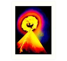 Phoenix Flame Rainbow Art Print