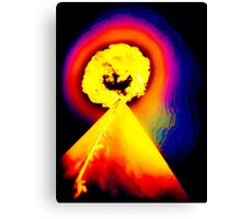Phoenix Flame Rainbow Canvas Print