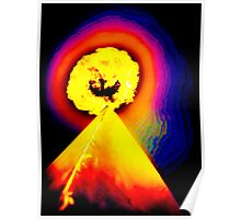 Phoenix Flame Rainbow Poster