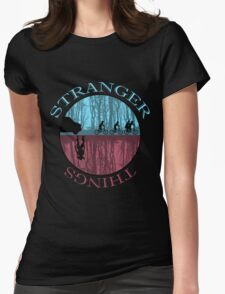 Stranger Things The Upside Down Womens Fitted T-Shirt