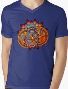 Colorful Trippy Funky Abstract Jazz Pattern Mens V-Neck T-Shirt