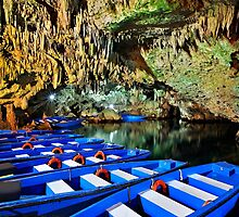 Boat ride in the underworld - Diros caves by Hercules Milas