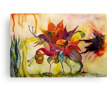 Flora and Froggy Escape Canvas Print