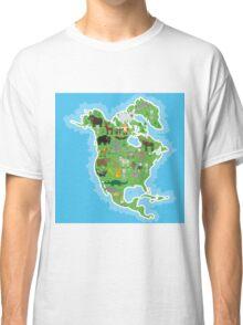 Northern America Animal Map Green Classic T-Shirt
