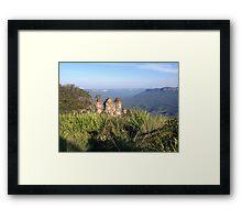 Three Sisters, Blue Mountains, Australia Framed Print