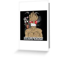 Invaders Of The Galaxy Greeting Card