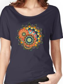 Happy Colorful Psychedelic Cool Funky Pattern Women's Relaxed Fit T-Shirt