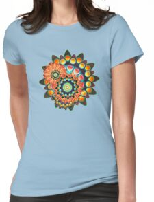 Happy Colorful Psychedelic Cool Funky Pattern Womens Fitted T-Shirt