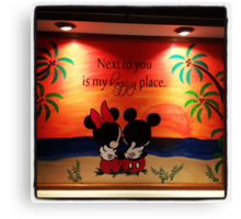 Mickey Minnie Happy Place Canvas Print