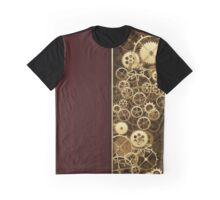 Steampunk Gears half wood Graphic T-Shirt