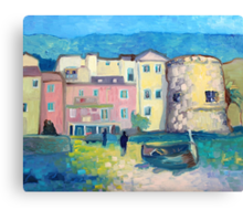 Laigueglia at night Canvas Print