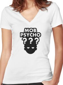 Mob Psycho ??? Women's Fitted V-Neck T-Shirt