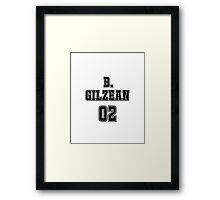 Butch Gilzean Jersey Framed Print