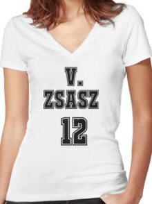 Victor Zsasz Jersey Women's Fitted V-Neck T-Shirt