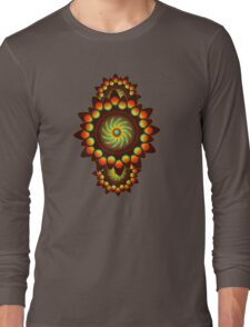 Happy Colorful Abstract Cool Funky Art Pattern Long Sleeve T-Shirt