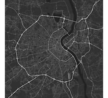 Bordeaux, France Map. (White on black) Photographic Print