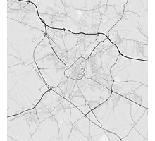 Douai, France Map. (Black on white) Photographic Print