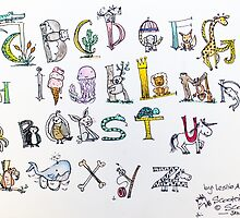 Animal inspired Alphabet by Scootersscottie
