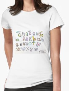 Animal inspired Alphabet Womens Fitted T-Shirt