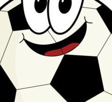 Happy cartoon soccer ball character Sticker