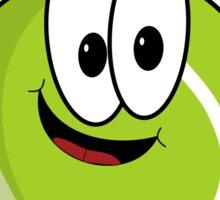Happy cartoon tennis ball character Sticker