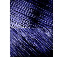 Line Art - The Scratch, blue Photographic Print