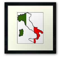 Map of Italy Framed Print