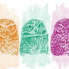 Colorful owlets - el buono el brutto el cattivo  by Redilion