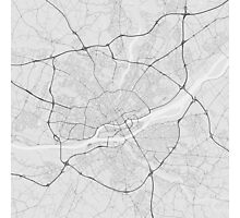 Nantes, France Map. (Black on white) Photographic Print