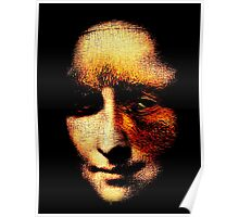 monalisa with eyes that watch the world and can't forget Poster