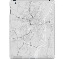 Strasbourg, France Map. (Black on white) iPad Case/Skin