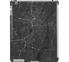 Strasbourg, France Map. (White on black) iPad Case/Skin
