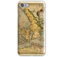 Map Of Denmark 1572 iPhone Case/Skin