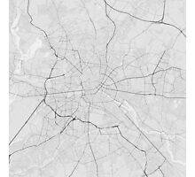 Berlin, Germany Map. (Black on white) Photographic Print