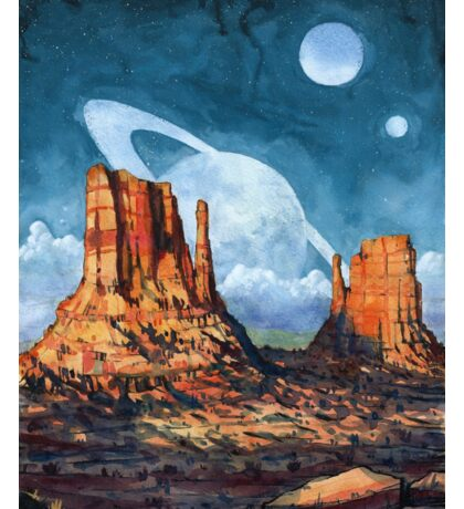 Monument Valley Watercolor Painting Sticker