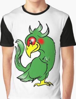 Green Parrot Graphic T-Shirt