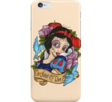 Snow White Day of The Dead Style Pink Background iPhone Case/Skin
