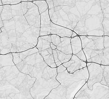 Bochum, Germany Map. (Black on white) by Graphical-Maps