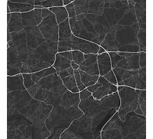 Bochum, Germany Map. (White on black) Photographic Print
