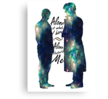 """Johnlock """"ALONE IS WHAT I HAVE"""" Canvas Print"""